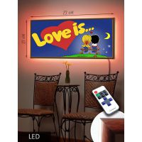 LED Картина Love is