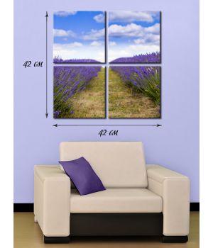 Модульная картина на холсте Цветочное поле