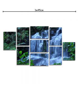 Модульная картина на стену в спальню с принтом Широкий водопад