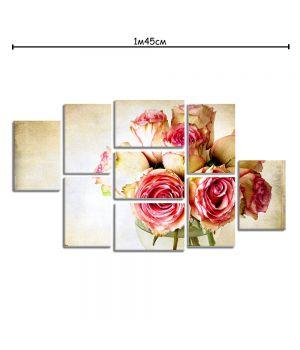 Модульная картина на холсте с принтом Букет роз