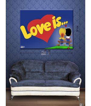 Картина на холсте 30х40 Love is