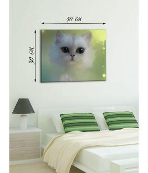 Картина на холсте 30х40 Волшебный кот