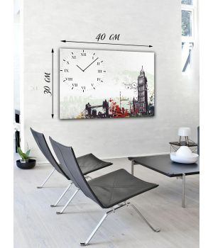 Часы-картина 30x40 Биг Бен и Тауэрский мост