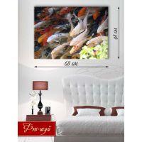 Картина на холсте 48х68 Рыбное царство