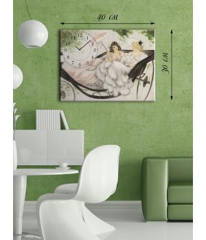 Часы-картина 30х40 на холсте Настоящие леди