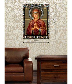 Картина на холсте 30х40 Богородица Семистрельница