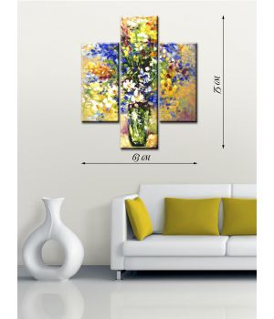 Модульная картина на холсте Цветочная ваза