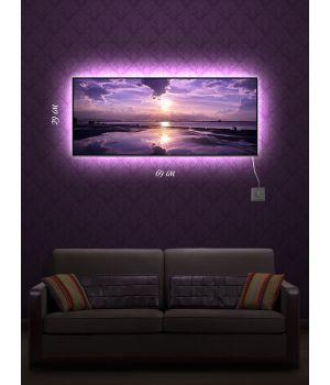 Картина с подсветкой 29х69 Фиолетовый восход