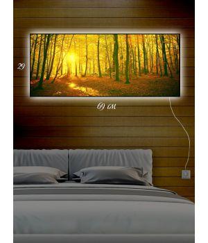 Картина с подсветкой 29х69 Брянский лес