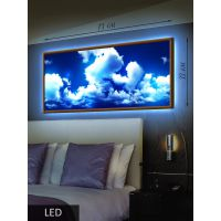 LED Картина Облака