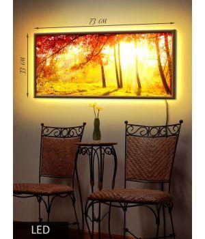 LED Картина Золотая осень