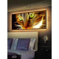 LED Картина Пламенный кот