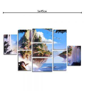 Модульная картина декор с принтом Сказочные горы