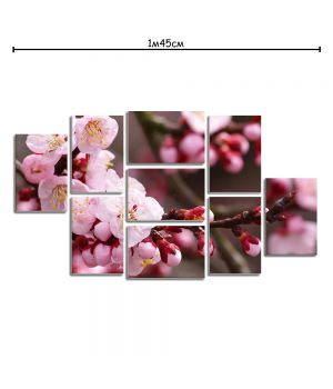 Модульная картина на холсте с принтом Цвет вишни
