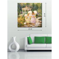 Картина на холсте 35х35 Сказочные ангелы