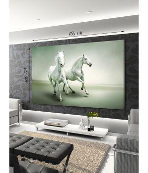 Панно Белые лошади