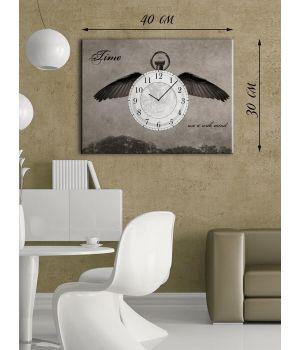 Часы-картина 30х40 на холсте Летящее время