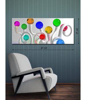 Картина на холсте 21х50 Разноцветные шарики