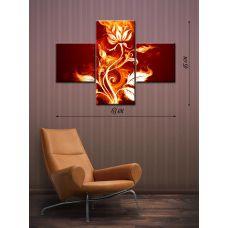 Модульная картина на холсте Огненный цветок