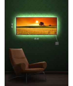 Картина с подсветкой 29х69 Степь, да степь кругом