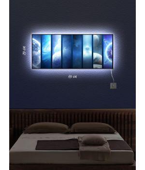 Картина с подсветкой 29х69 Космическое путешествие