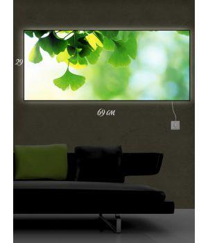 Картина с подсветкой 29х69 Зеленое настроение