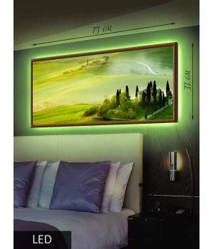 LED Картина Зеленый пейзаж
