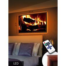 LED Картина Средняя, Домашний камин