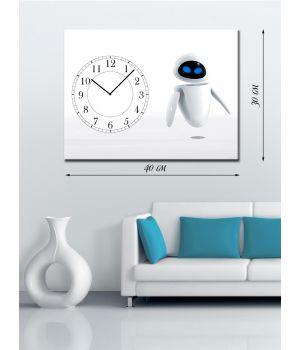 Часы-картина 30х40 на холсте Eve