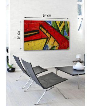 Картина на холсте 38x58 Граффити