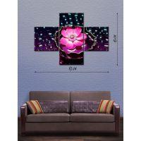 Модульная картина на холсте Розовая кувшинка