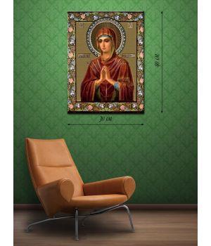 Картина на холсте 30х40 Богородица Заступница