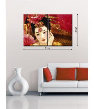Модульная картина на холсте Царица цветов