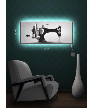 Картина с подсветкой 29х69 Швейная машинка