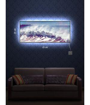 Картина с подсветкой 29х69 Штормовое предупреждение