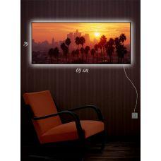 Картина с подсветкой 29х69 Пальма-де-Майорка