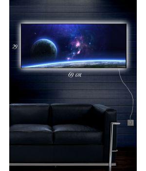 Картина с подсветкой 29х69 Млечный путь