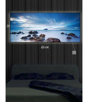 Картина с подсветкой 29х69 Затока Фанди