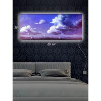 Картина с подсветкой 29х69 Фиолетовая облачность