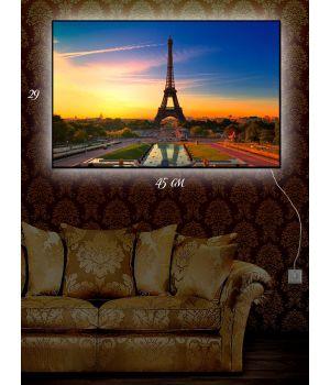 Картина с подсветкой 29х45 Магия Парижа