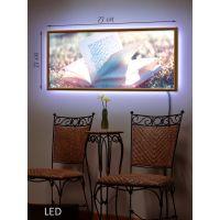 LED Картина Книга в солнечный день