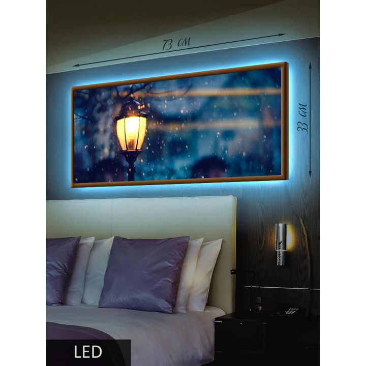 Светодиодная LED Картина Уличный фонарь
