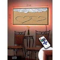 LED Картина Сердца на песке