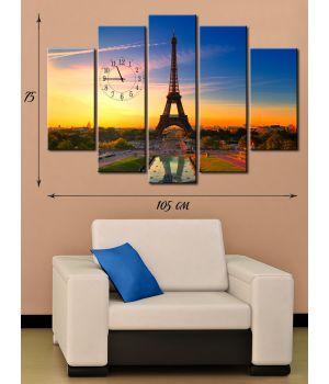 Модульная картина на холсте Эйфелева башня