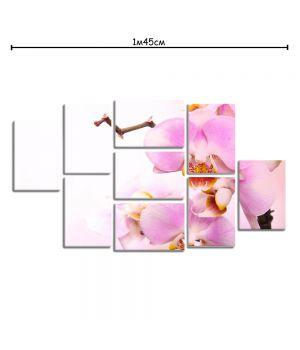 Модульная картина на холсте для дома Орхидея
