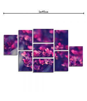 Модульная картина декор с принтом Фиолетовые цветы