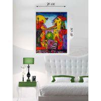 Картина на холсте 30х40 Сказочный домик