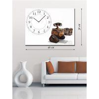 Часы-картина 30х40 на холсте Wall-E за работой