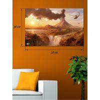 Картина на холсте 38х58 Извержение вулкана