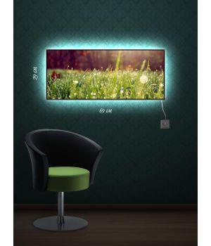 Картина с подсветкой 29х69 Волшебное прикосновение